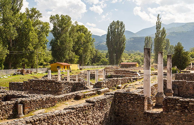 Ruins of Heraclea Lyncestis in Bitola