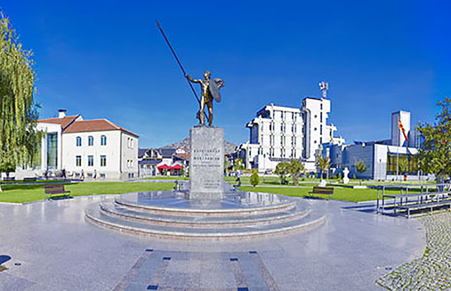 A statue of Alexander the Great at the Prilep city center
