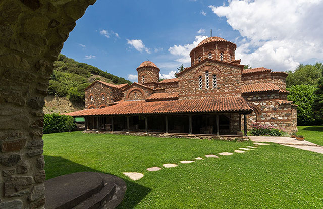 Monastery of St Leontius and Monastery of Bogorodica, with views over Strumica's valley
